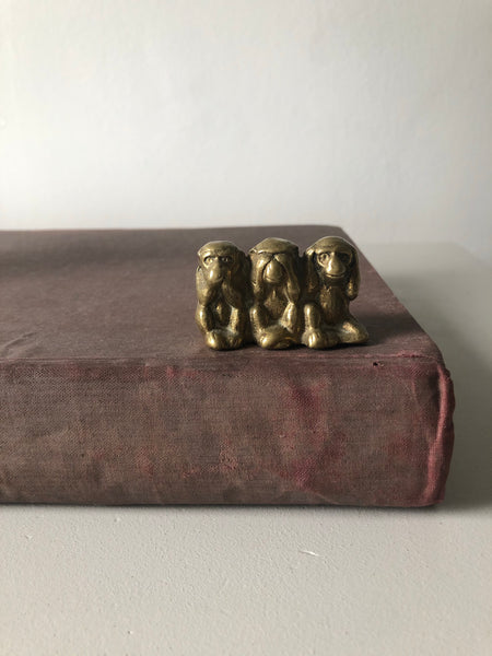 Small Vintage Brass Monkeys