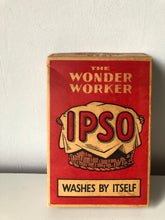 Load image into Gallery viewer, Vintage 'Ipso' washing powder box