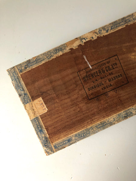 Vintage Wooden Cigar Box