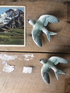 1950s Ceramic Swallows - Sold Separately