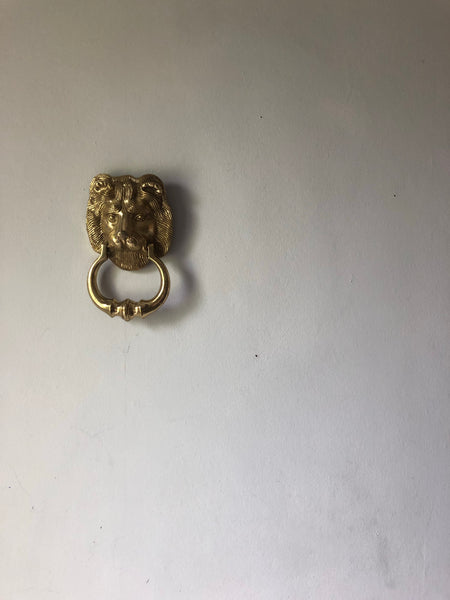 Heavy Brass Lion Door Knocker