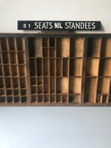 NEW - 1980s Bus Sign '51 Seats'