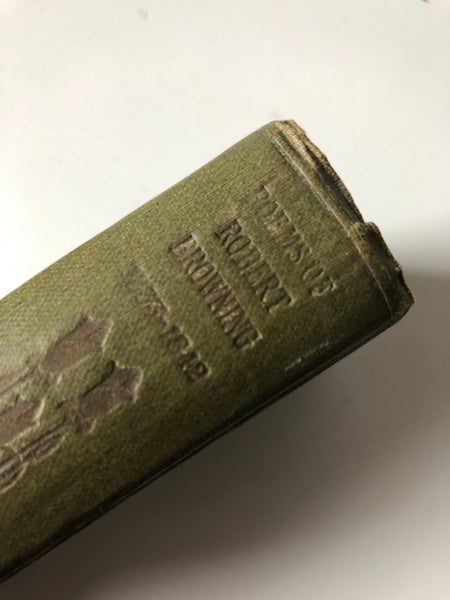 Antique book of Poetry by Robert Browning