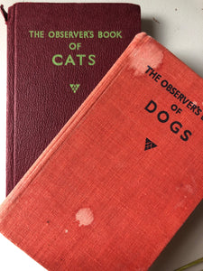 Pair of Observer books, Dogs and Cats