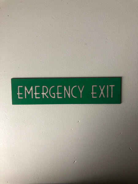 NEW - Vintage Emergency Exit Sign