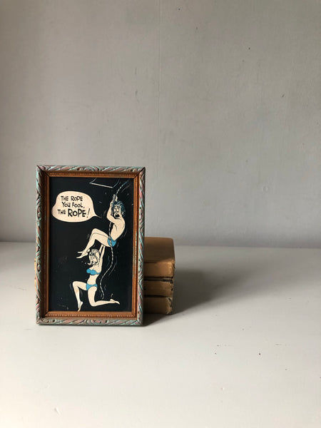 Cheeky vintage 'seaside humour' frame