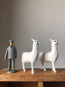 Vintage Llama Family and Keeper