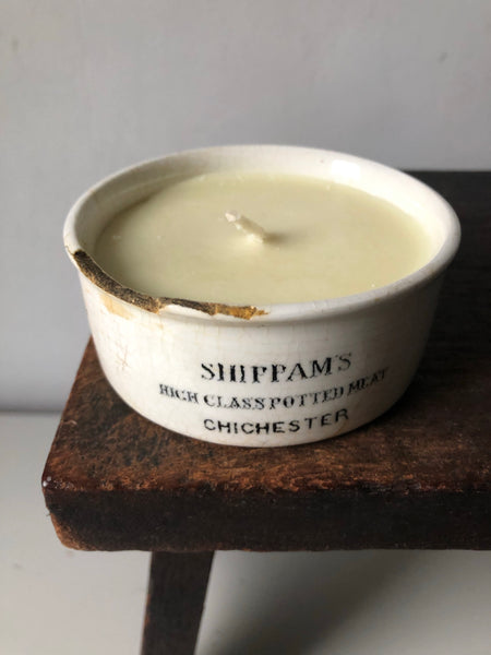 'Shippam's' Vintage Pot Candle, Sweet orange and Rosemary