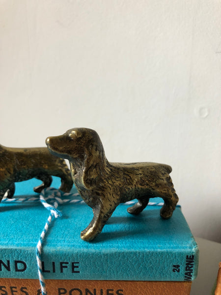 Pair of Brass Spaniels