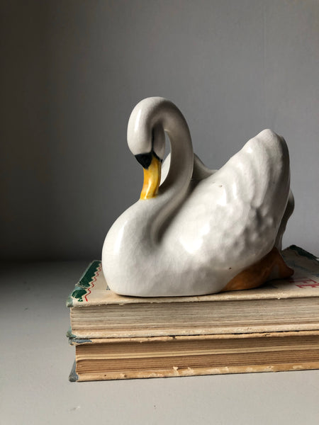 Vintage Swan Pottery planter