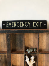 Load image into Gallery viewer, Vintage Emergency Exit Sign
