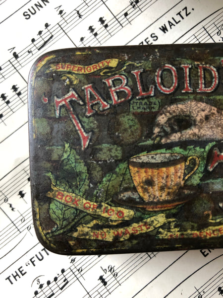Vintage Tabloid Tea tin
