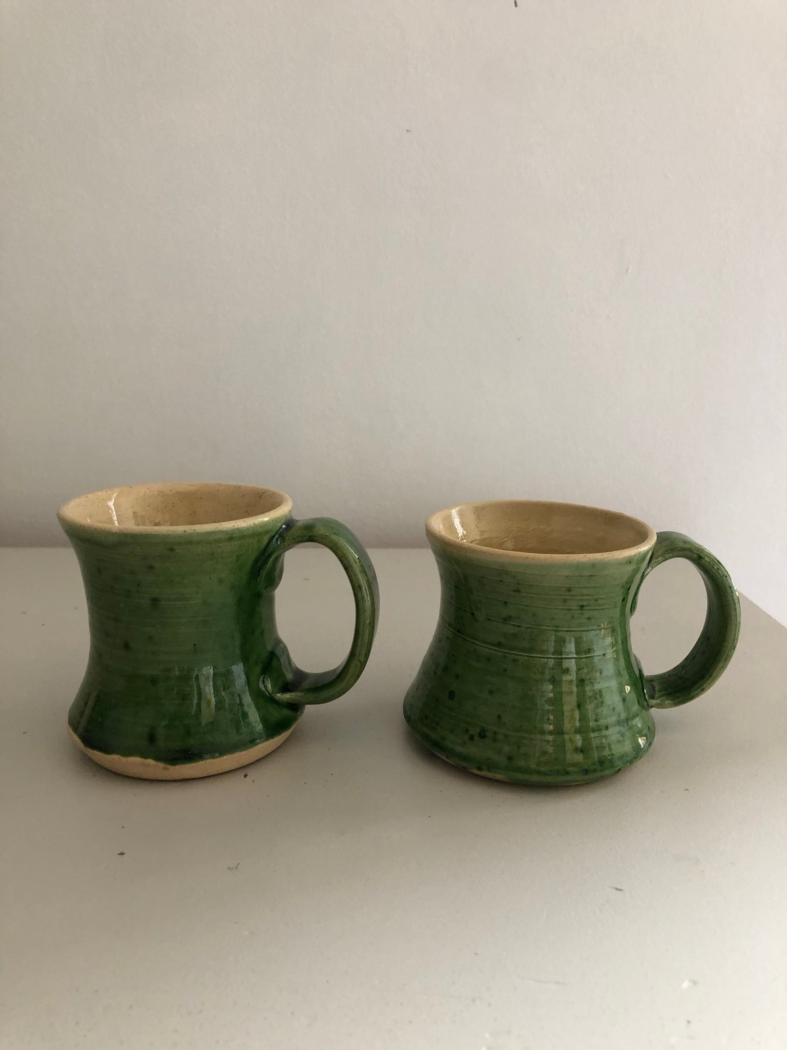Vintage Hand thrown Ceramic Coffee Mugs