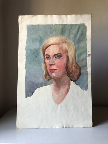 Original Watercolour Portrait, 'Blonde'