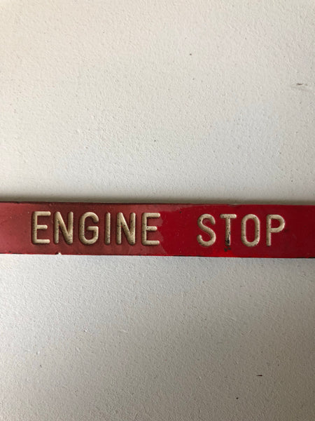 Vintage Transport Emergency Sign
