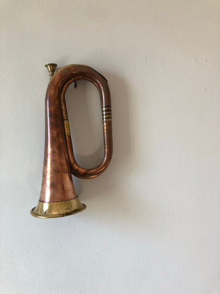 Vintage Brass and Copper Bugle Horn