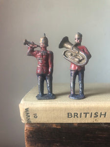 Pair of Lead British Military Guardsmen