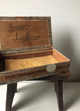 Load image into Gallery viewer, Vintage Wooden Cigar Box