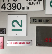 Load image into Gallery viewer, Vintage Transport Emergency Sign