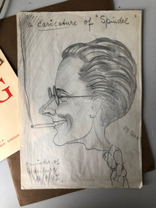 1940s Caricature Pencil Sketch