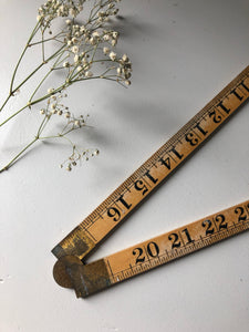 Vintage Brass Hinged Architects Ruler