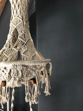 Load image into Gallery viewer, Vintage Macrame hanging planter
