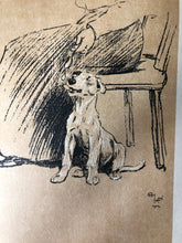 Load image into Gallery viewer, Cecil Aldin Dog Bookplate, Spoon treat
