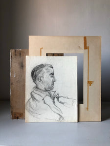 Vintage Pencil Sketch Portrait of a Gentleman