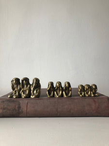 Medium Vintage Brass Monkeys