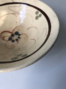 Vintage hand painted rustic bowl