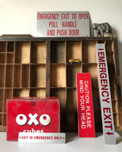 Load image into Gallery viewer, Vintage 'Emergency Exit' sign