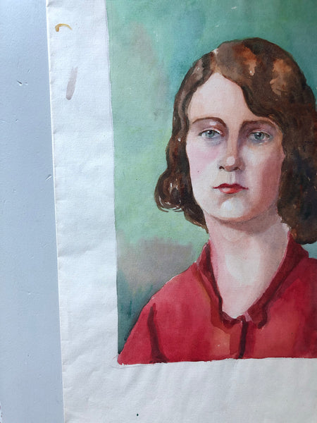 Original Watercolour, 'Girl in Red'