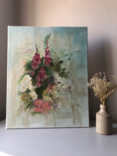Load image into Gallery viewer, Vintage Foxglove Painting