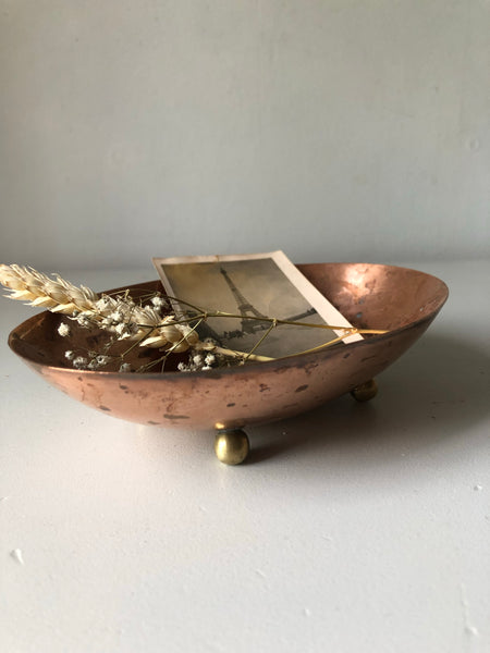 Copper and Brass Trinket Dish