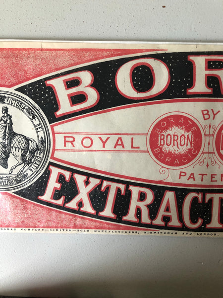 Vintage Borax Soap Advertising Display Poster