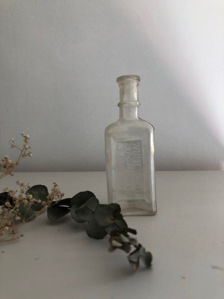 Vintage Sewing Machine Oil Glass bottle