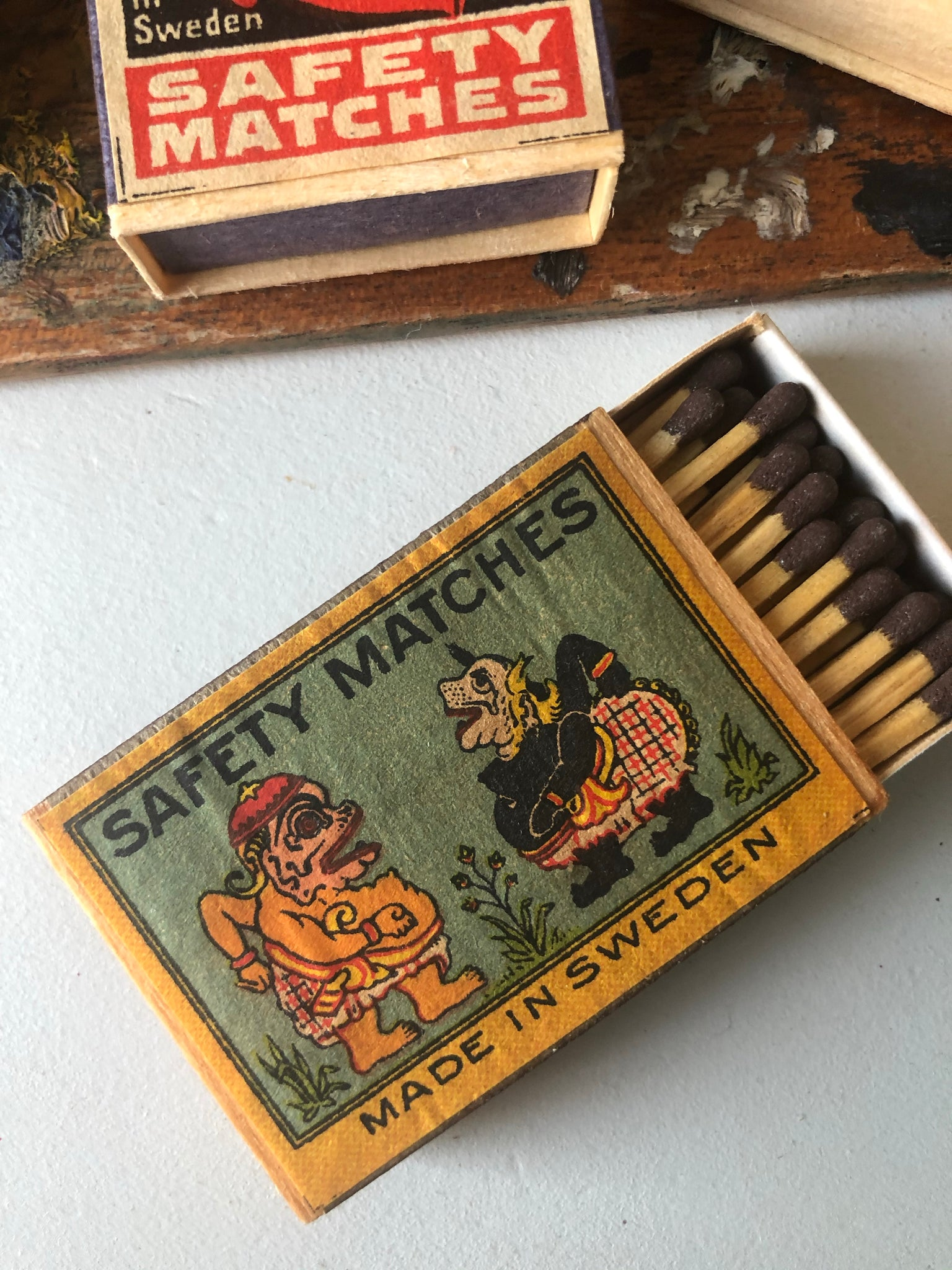 Box of matches, Made in Sweden