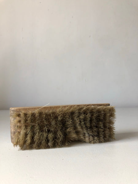 Vintage shoe polish brush