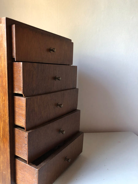 Set of Mid-century Table Top Drawers