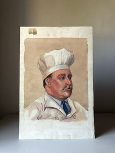 Original Watercolour, 'The Chef'