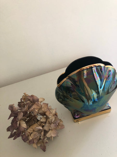 Vintage Clam Shell Vase, large