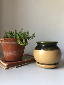 Vintage studio pottery plant pot