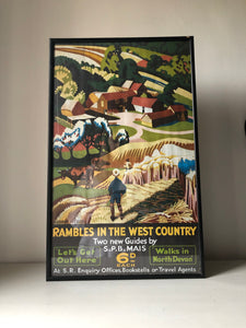 Vintage West Country Framed Railway Poster