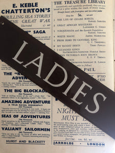 Vintage Bakelite 'LADIES' Door Sign