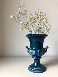 Vintage Navy Blue Dartmouth Urn