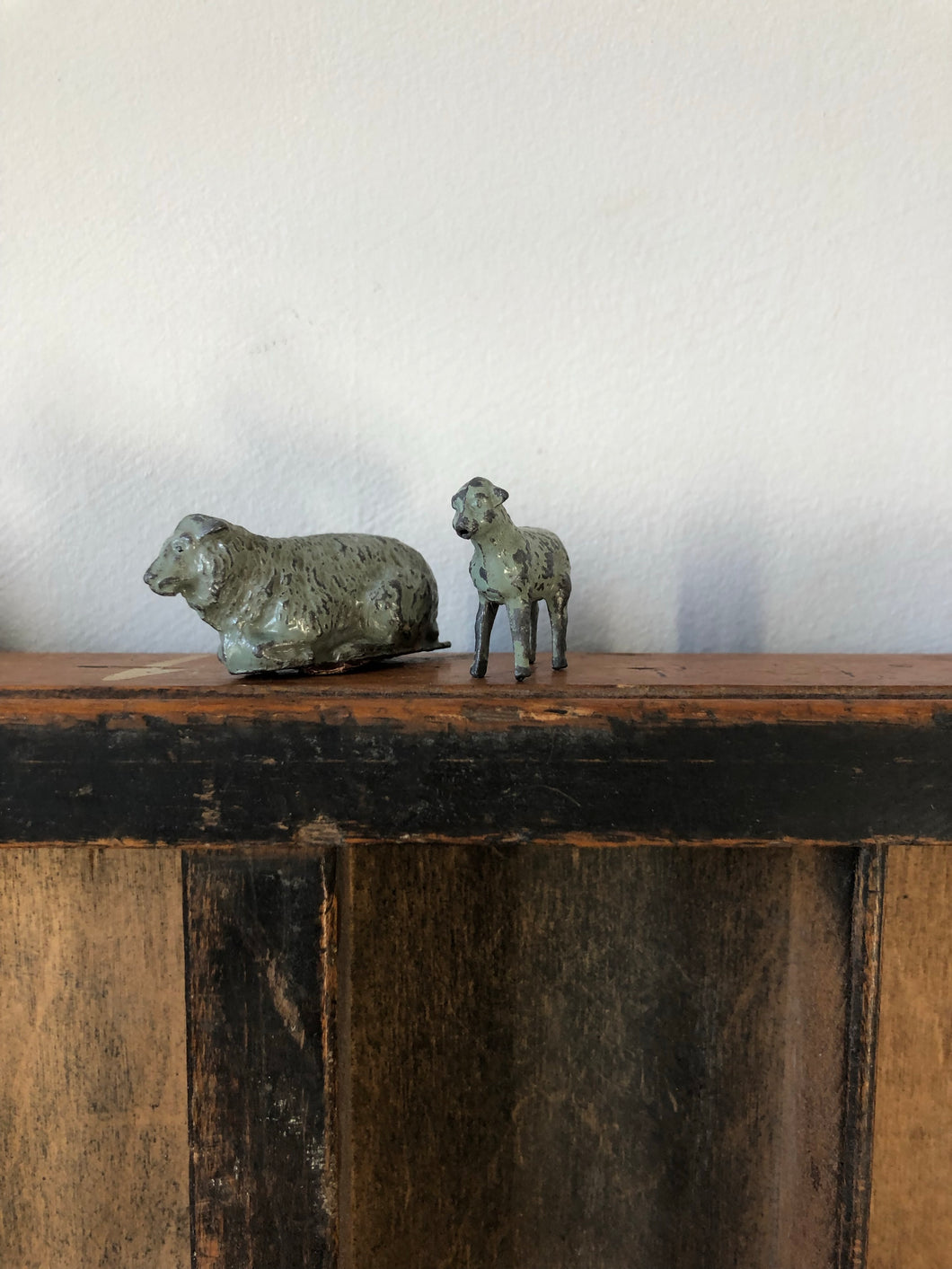 Vintage Lead Sheep and Lamb