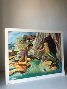 Original 1950s School Poster, 'The Little Mermaid'