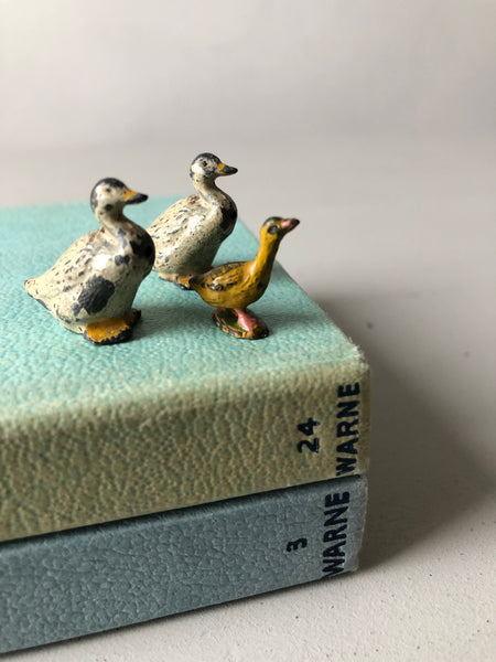 Antique Lead Ducks with Duckling