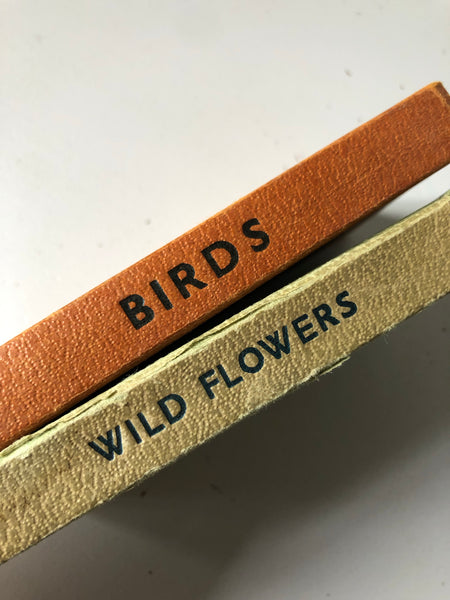 Pair of Observer book, Wild Flowers and Birds