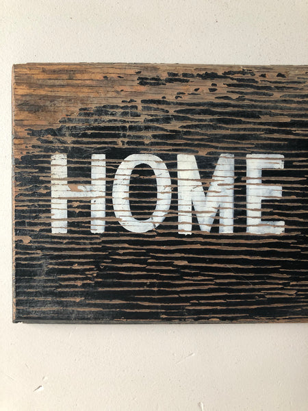 Vintage 'Home/Away' Wooden sign